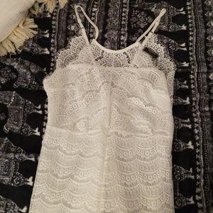 BNWT! Delicate White Lace Midi Dress